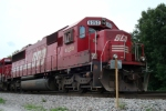 SOO 6050 parked in one of the Portage Junction sidings