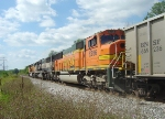 BNSF 8256 trails the two MACs westbound