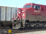 CP 8645 nose and cab closeup