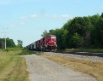 CP 8772 west parked with two AC4400s