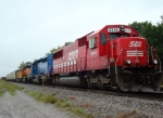 SOO 6045 is the leader in a rainbow EMD lashup