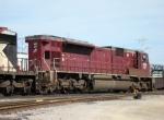 CEFX 107 lead unit on the eastbound unit grain train