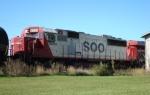 SOO 6033 trails CP 8833