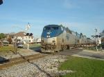Amtrak #7 screams through