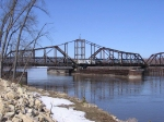 07031705 Amtrak train 8 crosses Mississippi River heading for La Crosse WI