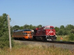 070916020 Westbound CP 2816 meets eastbound freight