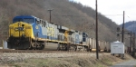 Westbound loaded coal train