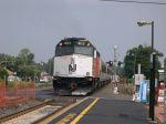 NJT 4113 Shoves A Northbound Train To Newark, NJ Out Of Raritan Station