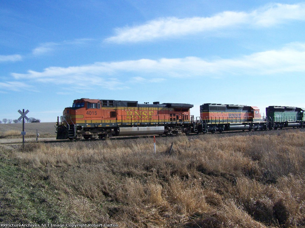 North-bound Freight on a Chilly Late November Day