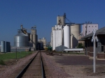 The View North Along the UP Branch Toward the AGP Grain Elevator; The IC&E Also Serves Here
