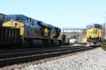 CSX 645 wait for a crew as the Q410 has just been saddled up and is about to head east(north)