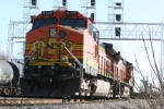 BNSF power awaits a crew their Samrt Start System babysits them