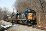 CSX 8664 leads an eastbound load of auto racks and parts just west of MD Route 97