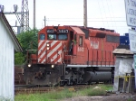 CP 5643 Creeps Out of the IC&E Yard