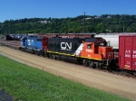 IC 9563 & GTW 5858 Move Cars in the CN Yard