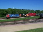 Two GP38-2s Work the CN Yard