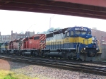 SD40's Marked for Three Different CP-Controlled Railroads Lead Grain North