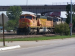 BNSF 8937 Awaits Clearance to Cross the Mississippi River