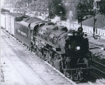 Pere Marquette #1225 pulling a freight east in 1950