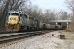 "CSX 6341 heads up the eastbound K951 ""Rock Runner"""