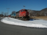 RMPX 9431 (ex CN) leads a southbound NECR train