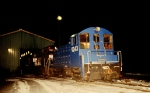 CR 9243 at the EX-CNJ Enginehouse on a cold winter night