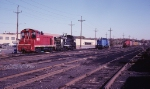 A ConRail SW-7, NW-2, SW-8, and a RS-3 spend the week end in the yard