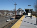 NJ Transit Engine 4204 Enters Roselle Park Station With A Train Bound For Raritan