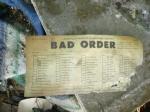 L&N Bad Order Form