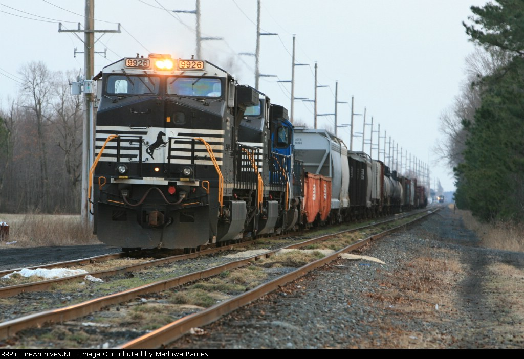 NS 9926 leads a short iteration of train #G-13 up to Enola, PA
