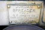 Jordan Spreader #810's builder's plate