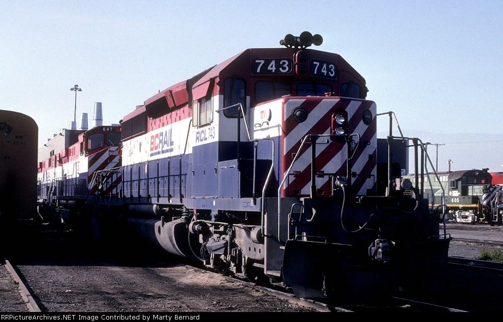 RCL 743 and BC Rail 647