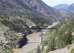 BCOL 4603 and 3906 and Train in the Fraser River Canyon