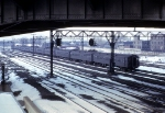 A Meet of Illinois Central Commuter Trains at Grand Crossing