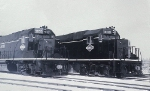 IC 3033 and 3039 Pose at EMD in the Snow
