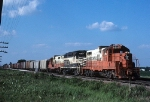 Geeps on the Flat Lands Haul Mixed Freight