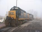 CSX locomotives at the depot