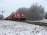 CP 8805 With ice in the trees.