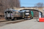 NS H0-2 meets 1021 at Lake Hopatcong Station