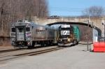 NS H0-2 meets 1021 at Lake Hopatcong Station