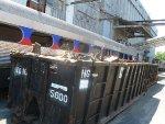 Remains of SEPTA Silverliner II 9016 in scrap dumpster