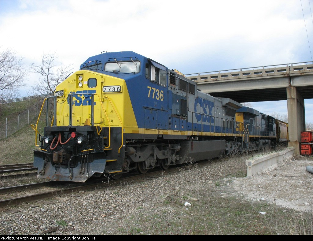 Q335-15 pulling out the west end of the yard to double the train into another track