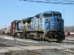 CSX 7380 & 7565 pulling Q326-13 out of the yard