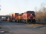 CP 8655 & BNSF 8057 leading X500 east through the long shadows