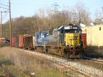 CSX 8562 & 5975 leading Q335-28 in the last miles of its trip