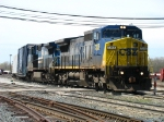 CSX 7353 & 7305 bringing Q326-30 out of the yard