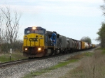 CSX 7327 & CEFX 3121 leading X369-29 westward