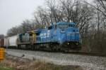 CSX 7343 waits for the light