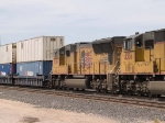 UP 5069 #4 power in a WB intermodal at 2:15pm