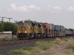 UP 4732 leads a WB intermodal at 3:19pm